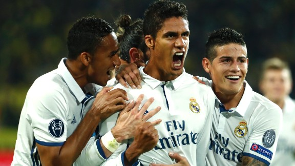 Raphael Varane gave Real a 2-1 lead with his second half effort.