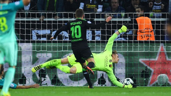 Thorgan Hazard gave the German side the lead in the first half with a fine finish to stun Luis Enrique's men.