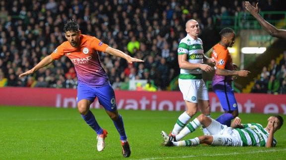 Nolito scored Manchester City's third equalizer of the night as it came back on three separate occasions to draw 3-3 at Celtic.