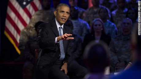 Obama holds town hall at military base