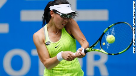Saisai Zheng lost in the first round of the Wuhan Open.