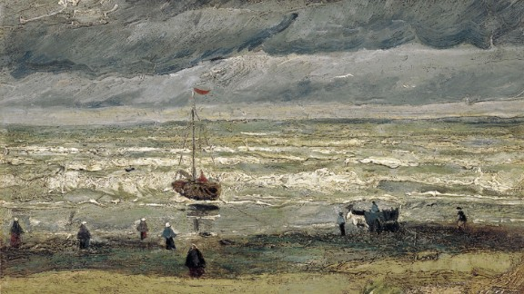 Vincent van Gogh's 1882 painting 'View of the Sea at Scheveningen' was one of two pictures stolen from the Van Gogh Museum in Amsterdam in 2002.