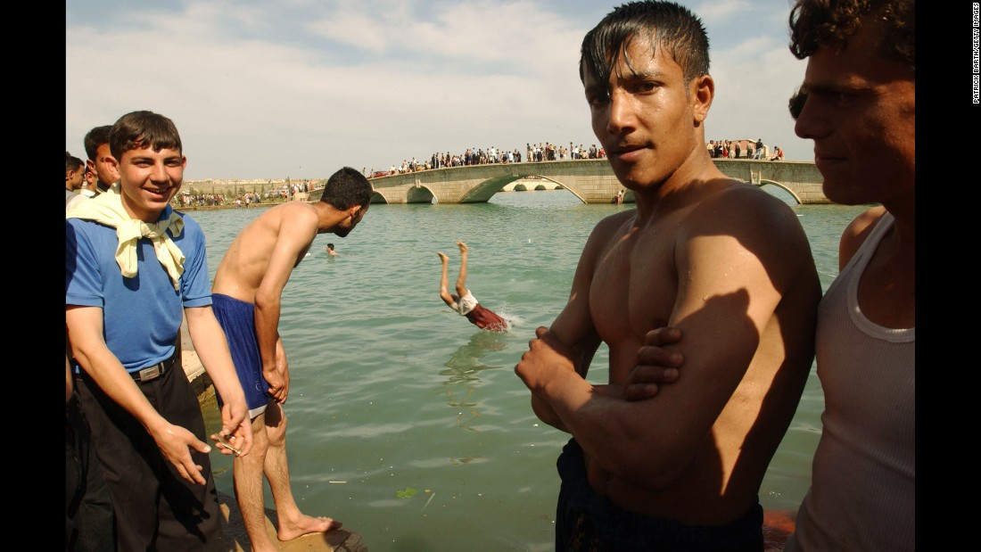 The lake in Saddam Hussein's palace was off-limits to Mosul's ordinary citizens until the dictator was toppled in April 2003.