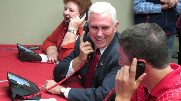 Indiana Gov. Mike Pence, Donald Trump