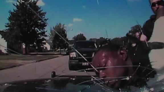 Pele Smith police windshield