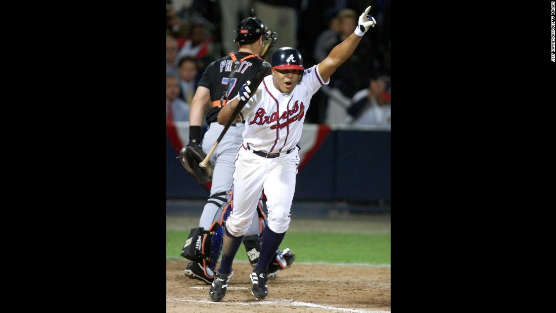 "October 19, 1999: The Braves reached the World Series in dramatic fashion. In Game 6 of the NLCS against the New York Mets, Atlanta coughed up a four-run lead but eventually won 10-9 in the bottom of the 11th inning when Andruw Jones walked with the bases loaded. It was the only year a World Series was held at ""The Ted."" The New York Yankees swept the Braves in four games."