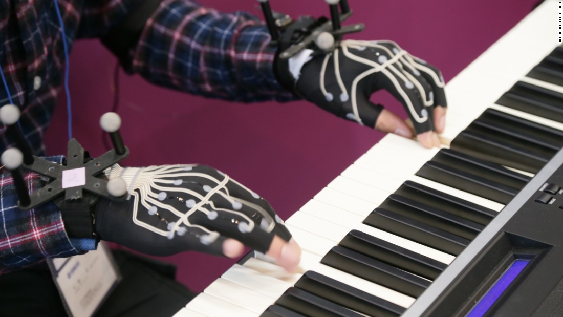 Japan's Wearable Tech Expo has featured all kinds of bizarre gadgets, such as Yamaha's special gloves designed for piano players. Equipped with 12 motion sensors, the gloves record the motion of your hands so users can analyze performances later.