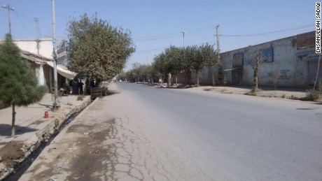 Streets in Kunduz are empty as the heavy fighting continues.