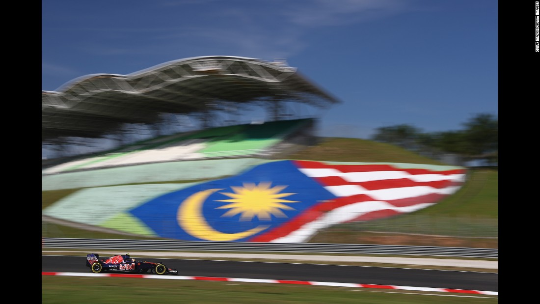 Formula One driver Carlos Sainz practices in Kuala Lumpur, Malaysia, on Friday, September 30.