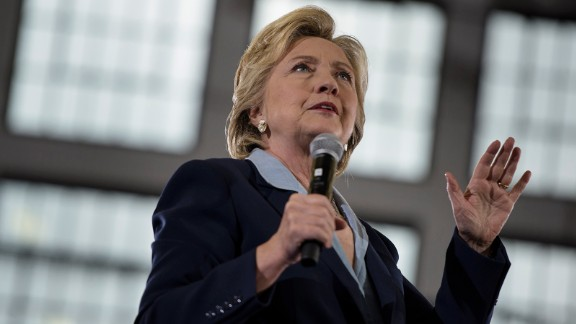 Hillary Clinton speaks during an Ohio Democratic Party rally October 3, 2016 in Akron, Ohio.