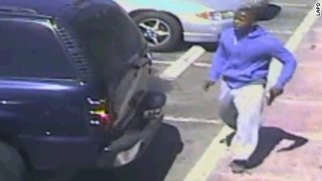 Surveillance footage provided by LAPD shows Carnell Snell Jr. was armed with a handgun.
