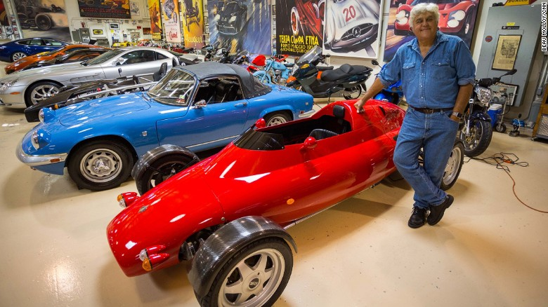 Jay Leno Hollywood Stars M McLaren F Car CNN - Show car garage