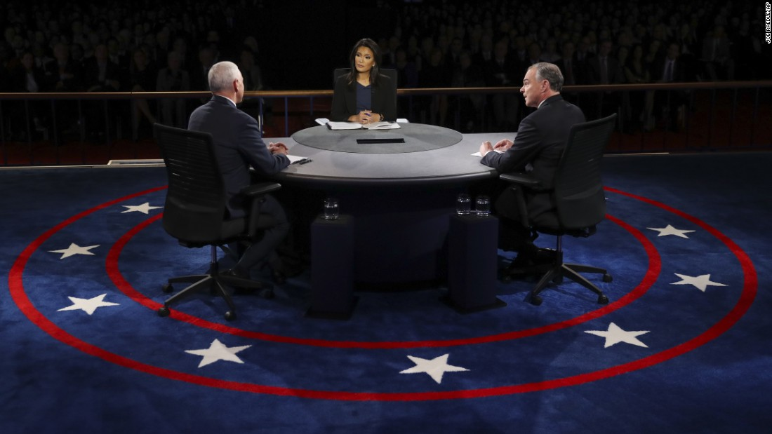 The debate was held a week after the first of three presidential debates.