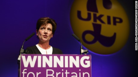 Diane James stood down as leader of UKIP after 18 days in the post.