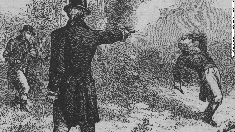 the duel between alexander hamilton and aaron burr which began in 1776 After fatally wounding alexander hamilton in a duel, aaron burr was indicted for murder in august but prudently slipped out of new york before he could be arrested, heading for parts southward the charges were eventually dropped on technicalities.