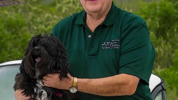 Arlan Richardson with his Tibetan terrier, MoMo.