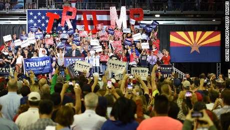 Political world watches Arizona as Trump heads West