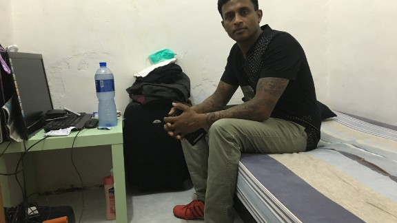 Ajith Puspakumara, 44, is a former soldier from Sri Lanka who came to Hong Kong in 2003. He gave up his bed in a similar single-room apartment to Snowden for several nights in 2013, and then slept in the hallway outside on the floor.