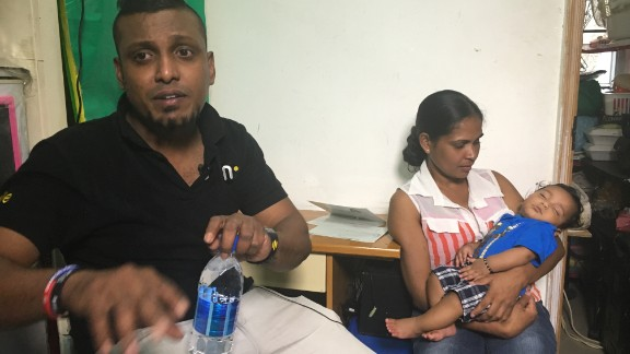 Supun Kellapatha: Supun Kellapatha, an asylum-seeker from Sri Lanka, photographed with his wife Nadeeka Nonis and their six-month old son Dinath.