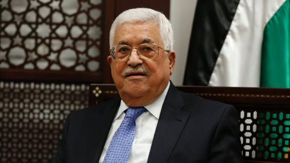 Palestinian president Mahmoud Abbas is pictured during a meeting with the Norwegian foreign minister in the West Bank city of Ramallah on September 8, 2016. / AFP / ABBAS MOMANI        (Photo credit should read ABBAS MOMANI/AFP/Getty Images)