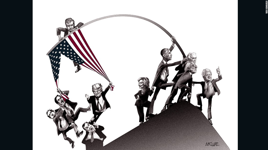 The Long Strange Trip To 2016 Election A Cartoon View