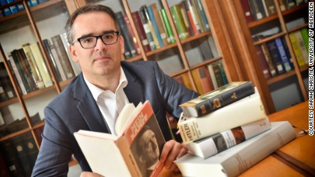 Thomas Weber, a professor of history and international affairs at the University of Aberdeen, has uncovered Hitler as the real author of a 'biography' that boosted his rise to power.