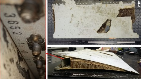 Left outboard flap trailing edge section confirmed as MH370 debris.