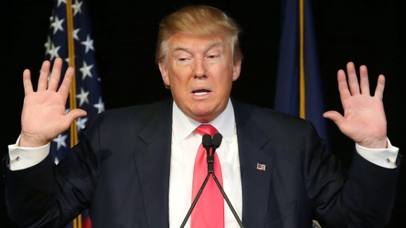 Republican presidential candidate Donald Trump speaks during a campaign rally at the Exeter Town Hall on February 4, 2016 in Exeter, New Hampshire. Democratic and Republican Presidential candidates are stumping for votes throughout New Hampshire leading up to the Presidential Primary on February 9th.