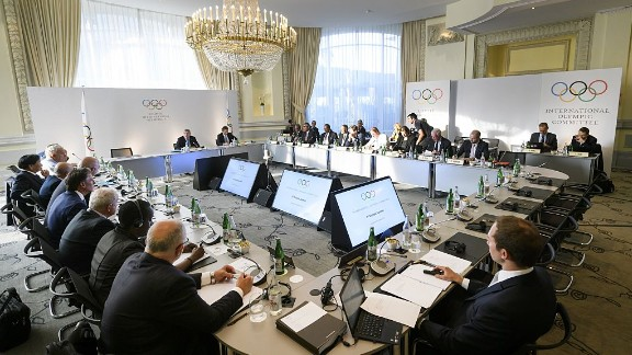 Members take their seat for the opening of an Olympic Summit on reforming the anti-doping system on October 8, 2016 in Lausanne. After a Russian doping scandal plunged the Olympic movement into one of its worst crises, top figures in world sport meet in a bid to overhaul global drug testing.   / AFP / FABRICE COFFRINI        (Photo credit should read FABRICE COFFRINI/AFP/Getty Images)