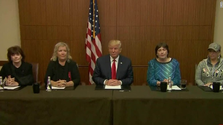 Trump Appears With Bill Clinton Accusers Before Debate Cnnpolitics