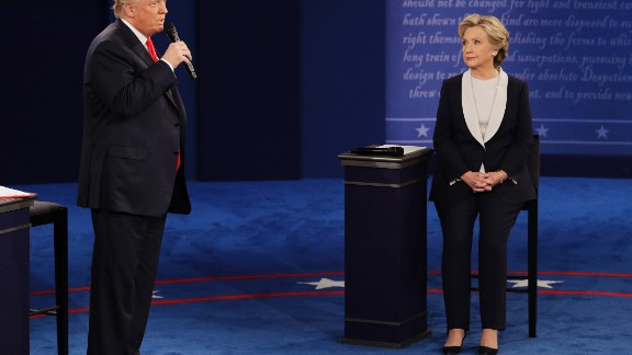 "At the beginning of the debate, Trump apologized for lewd remarks he made during a 2005 video that surfaced last week. He called it ""locker room talk"" before pivoting to terrorism and ""bad things happening"" in the world."