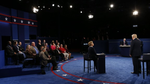 A stage shot from the candidates' point of view.