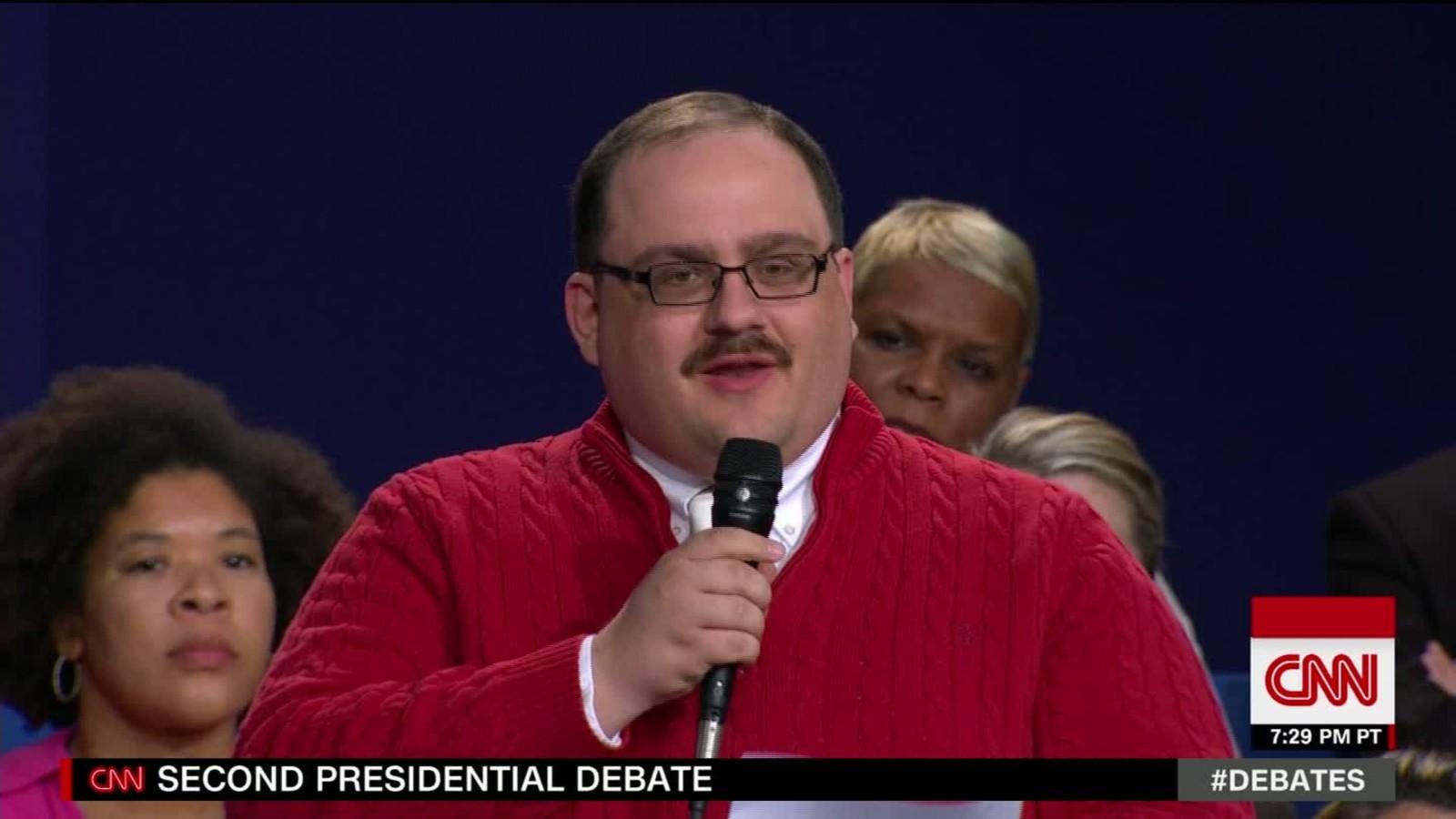 And the winner of the presidential debate is ken bone