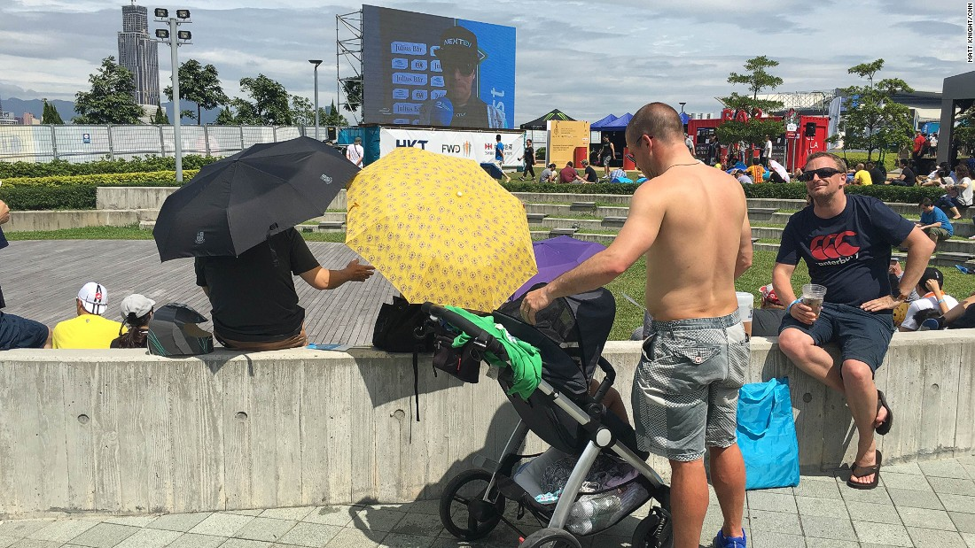 The weekend weather forecast was for rain, but umbrella's were only needed to shield from the sun in the eVillage.