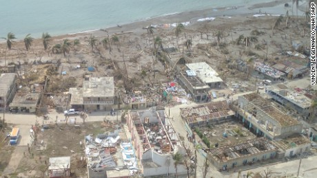 Towns along Haiti's southwestern coast were devastated by the hurricane.