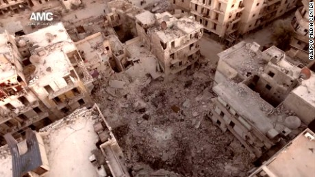 Ghostly new video shows Aleppo in ruins