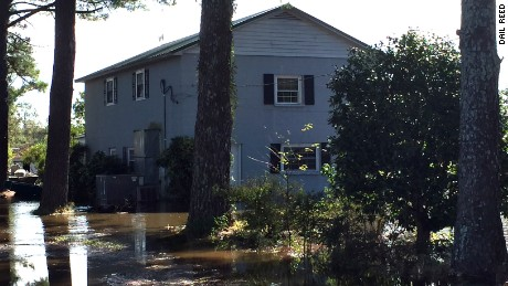 Dail Reed's house faces the threat of more flooding Tuesday in Snow Hill, North Carolina.