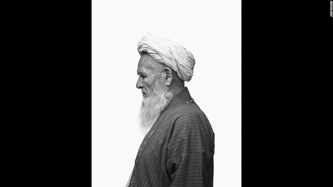 A mullah from the refugee village of Qualeen Bafan.