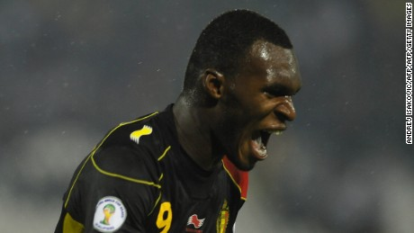Born in the Democratic Republic of Congo's capital of Kinshasa, Benteke has scored 9 goals in 28 appearances for Belgium