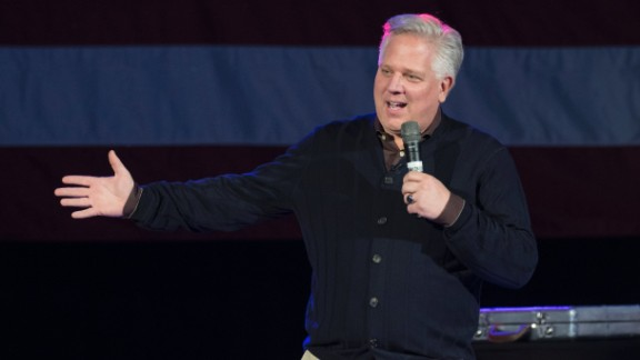OKLAHOMA CITY, OK - FEBRUARY 28: Conservative talk radio host Glenn Beck endorse Republican presidential candidate Ted Cruz before Cruz made a speech to supporters during a campaign rally February 28, 2016 in Oklahoma City, Oklahoma. Cruz discussed his plans to improve the country and his commitment to uphold the Constitution. (Photo by J Pat Carter/Getty Images)