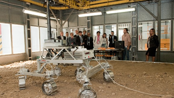 Another ExoMars mission will launch a rover in 2020. Here the prototype is demonstrated in Turin, Italy in September 2010.