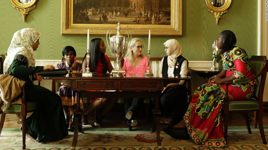 "The girls seen in the film, including Raphina Feelee, far right, were captured speaking frankly about the challenges they face as they try to achieve their dreams. ""I don't care what the struggle may be,"" <a href=""http://www.cnn.com/videos/tv/2016/10/09/we-will-rise-film-raphina.cnn/video/playlists/cnn-films-we-will-rise/"" target=""_blank"">Feelee says in the film.</a> ""I can make it."""