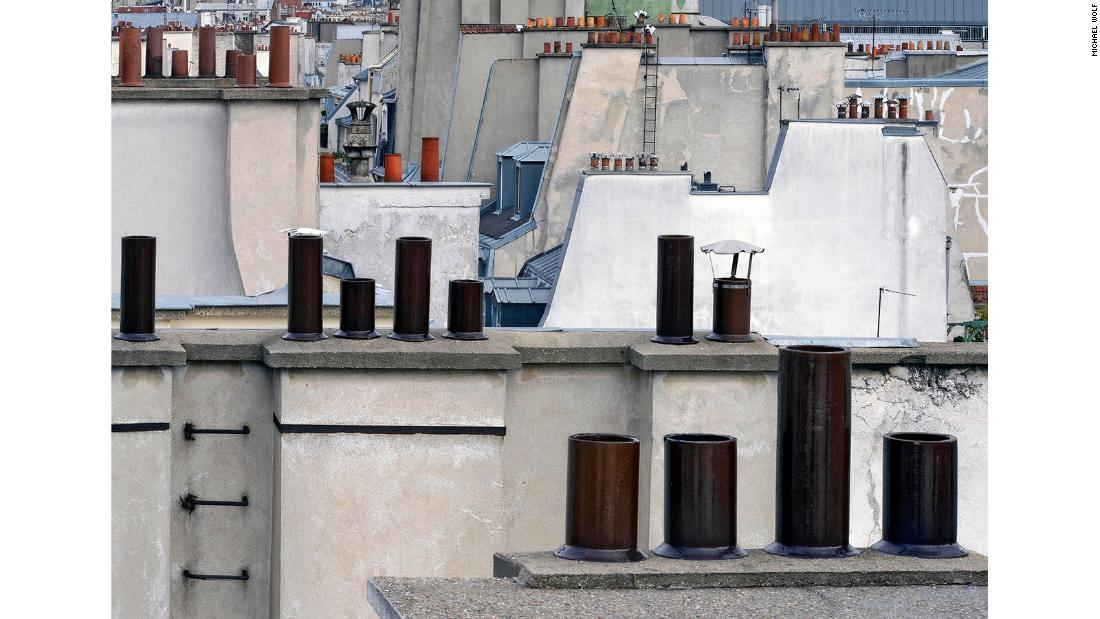 Paris Abstract is an alternative view of Paris' rooftops.
