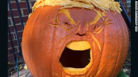 Marcher Lord is one of many to make a Donald Trump pumpkin this Halloween.