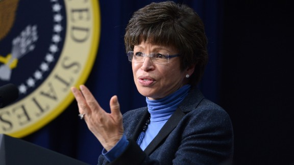 WASHINGTON, DC - NOVEMBER 21: (AFP OUT) Senior Advisor to President Barack Obama Valerie Jarrett speaks to a group of educators in the South Court Auditorium of the White House November 21, 2013 in Washington, DC. They were being honored as ConnectED Champions of Change for taking creative approaches in using technology to enhance learning for students in communities across the country.  (Photo by Olivier Douliery-Pool/Getty Images)