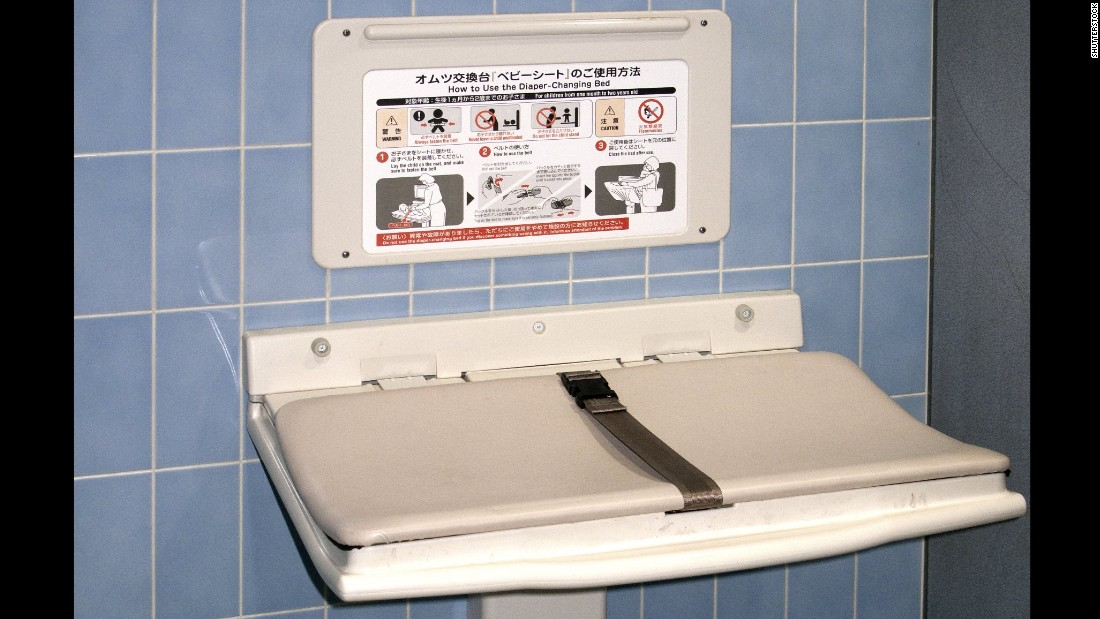 Diaperchanging Stations Coming To More Mens Restrooms CNN - Commercial bathroom baby changing table