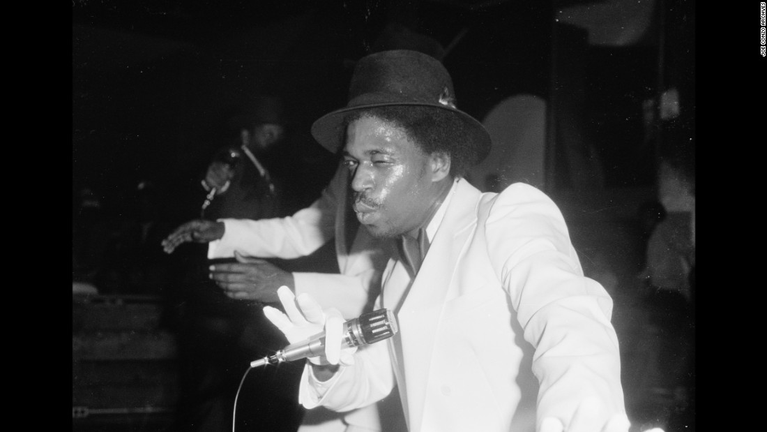 Grandmaster Caz raps at Harlem World in 1981.