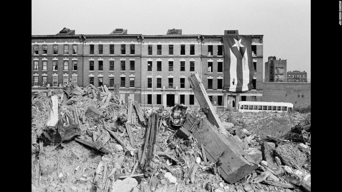 "Charlotte Street in 1980. This devastated area exemplified urban decay in the Bronx. ""It was the poster child of the South Bronx,"" Conzo said. ""It was so bad that Hollywood used to come make movies over there because it reminded them of bombed-out Berlin."""
