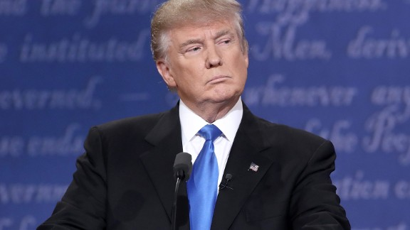 HEMPSTEAD, NY - SEPTEMBER 26:  Republican presidential nominee Donald Trump stands at his podium during the Presidential Debate at Hofstra University on September 26, 2016 in Hempstead, New York.  The first of four debates for the 2016 Election, three Presidential and one Vice Presidential, is moderated by NBC