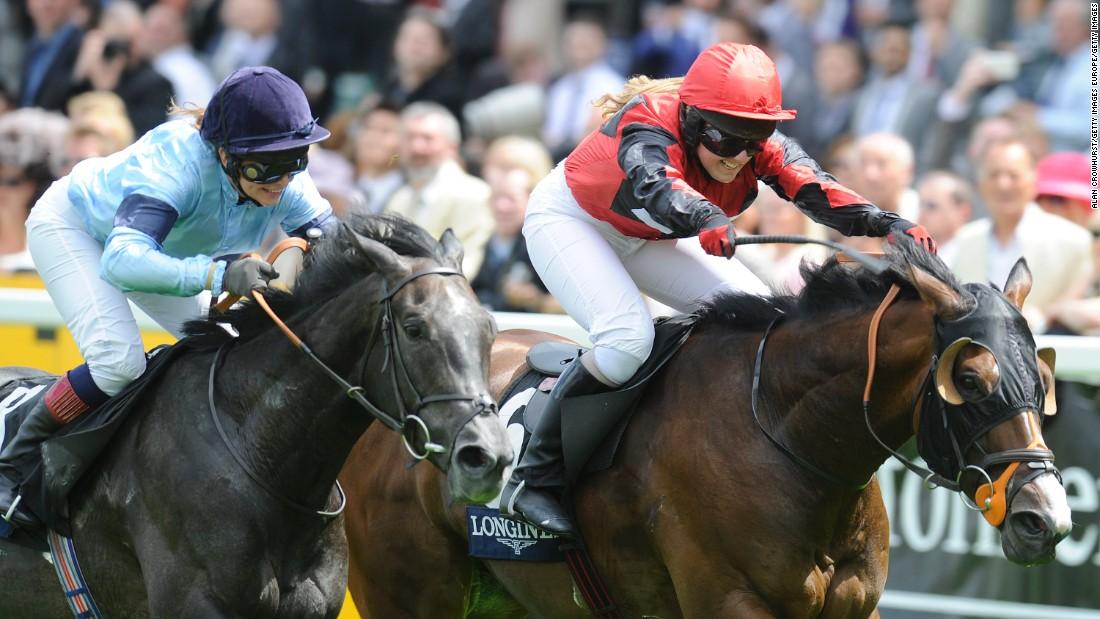 Women horse jockey